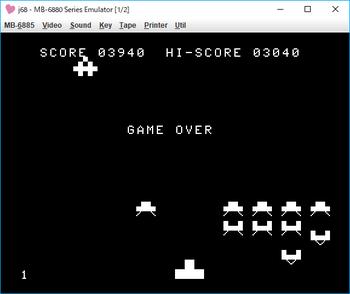完全マシン語 スペースインベーダー game over.png