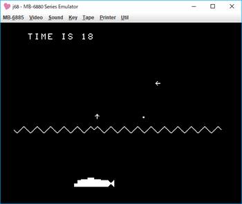 潜水艦ゲーム(BASICゲーム徹底研究)ゲーム画面1.png