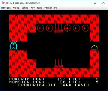 THE DARK CAVE_POKURIN4 ゲーム画面2.png